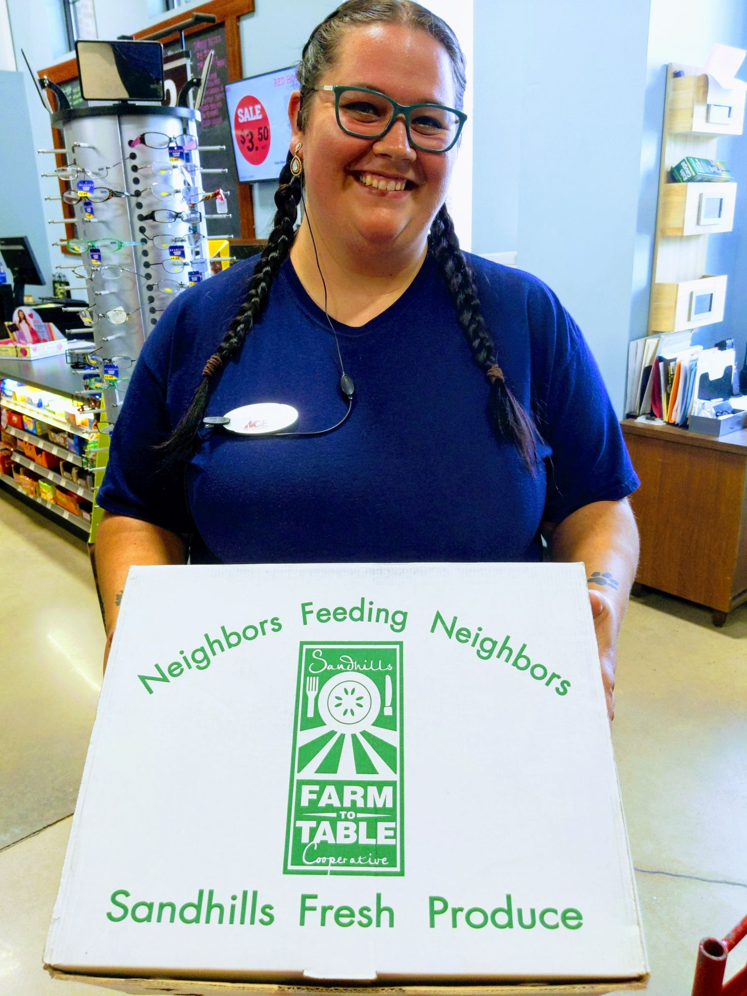 greeting customers with a smile at ace hardware